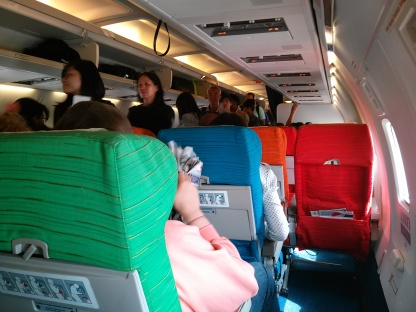 Interior on board Malaysia Airlines