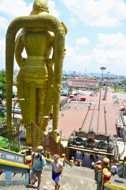 View from the peak, behind the Murugan statue