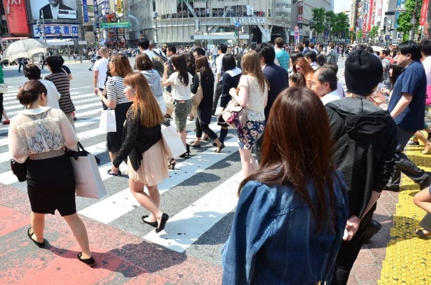 Crossing Shibuya