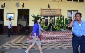 Peron stasiun Ayutthaya